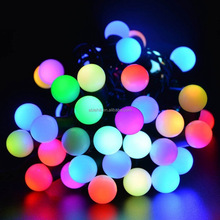 Solar Powered Crystal Ball Warm White LED String Lights Strip Lamp For Christmas Decoration