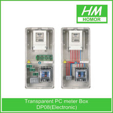 Electric outdoor waterproof plastic transparent 3 phase meter box