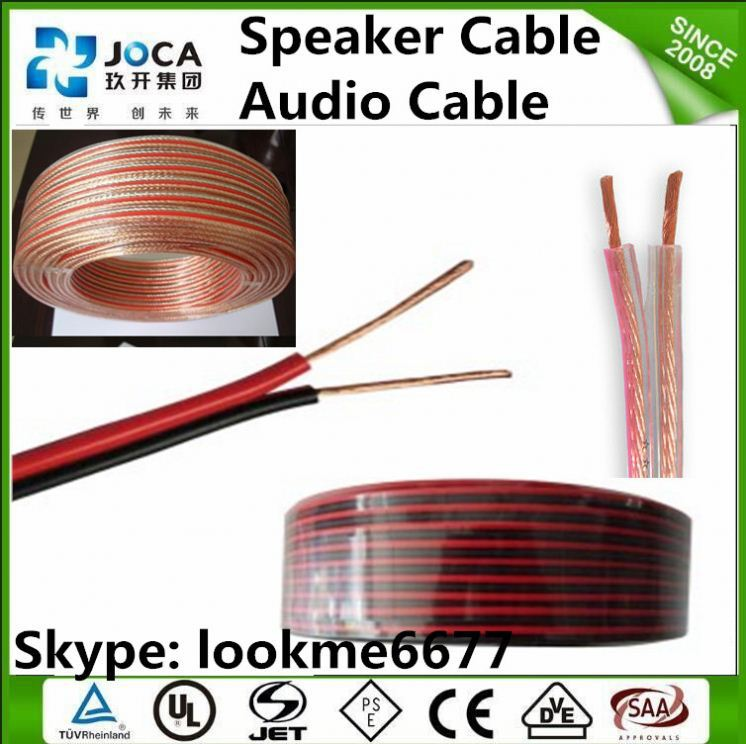 Red black Twisted speaker wire black and yellow speaker cable
