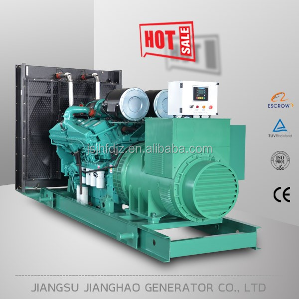 3phase 1000kw diesel generator with Cummins engine KTA38-G9