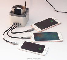 mobile accessories 5 ports usb charger with phone stand for samsung iphone