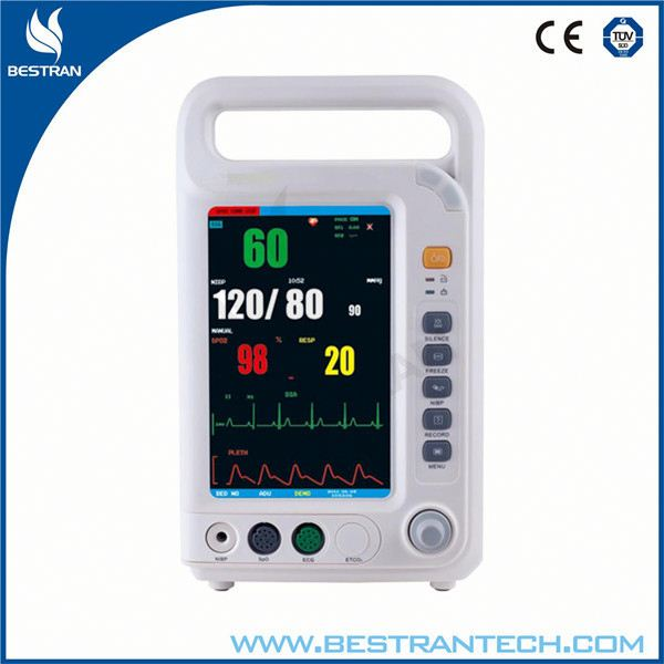 China BT-PM8A 7 inch multi-parameter patient monitor, ecg portable monitor