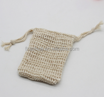 cotton mesh soap bag healthy body product