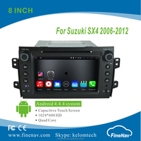 "8"" 2Din Android 4.4.4 Car DVD player with Quad-core HD 1024*600 Resolution 16GB Flash Mirror Link for Suzuki SX4 2006-2012"