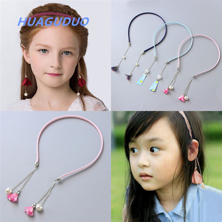 Thailand best selling children kids <strong>hair</strong> <strong>accessories</strong> many style offer fancy hairbands for girls , flower hairband with earring