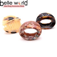 New Style Mini Round Acetate Tortoise Hair Claw Clip
