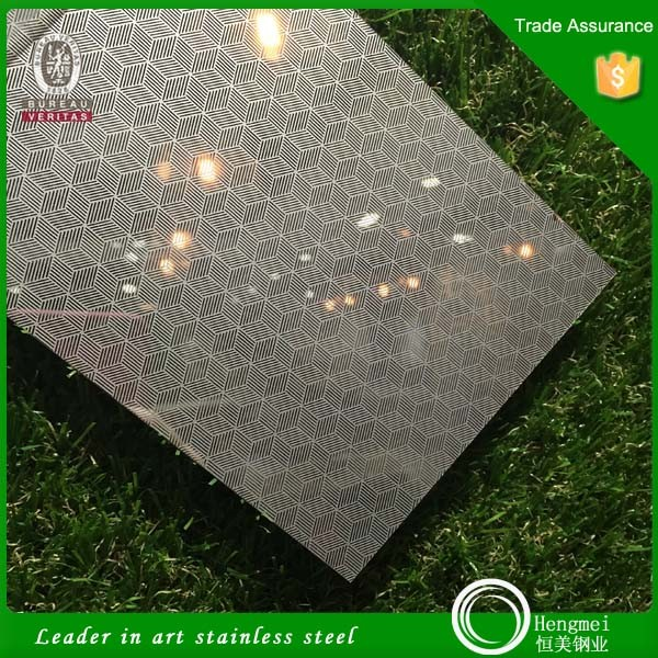 Alibaba best seller embossed stainless steel pvd color stainless steel laser panel for table decoration