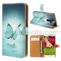 Wallet Style Magnetic Flip Stand PC+PU Leather Case for LG G2 D800 D801 D802