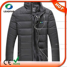 two-pocket soft shell heated down coat jacket with APP heating function control