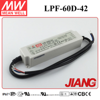 60W LED Power Supply 42V LPF-60D-42 Meanwell 60W Dimmable LED Driver IP67
