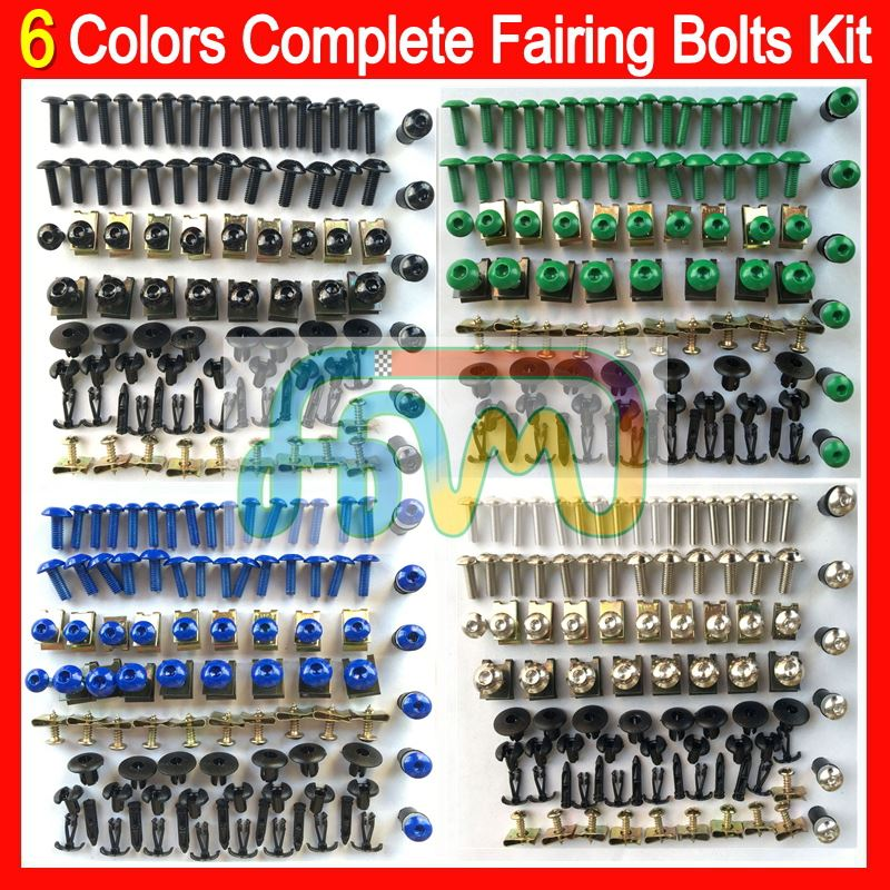 6 Colors Fairing bolts full screw kit For HONDA CBR400RR VFR400RR CBR1100XX VTR1000 Complete Body Nuts Black bolt screws set