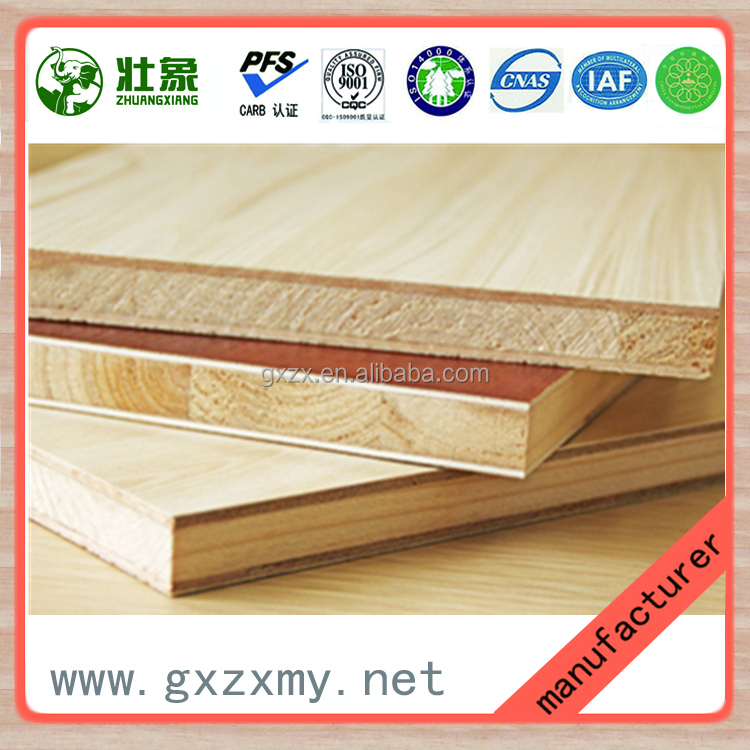 1220x2440x15mm-21mm Furniture and Decoration Grade Chinese Spruce Core Wood Blockboard