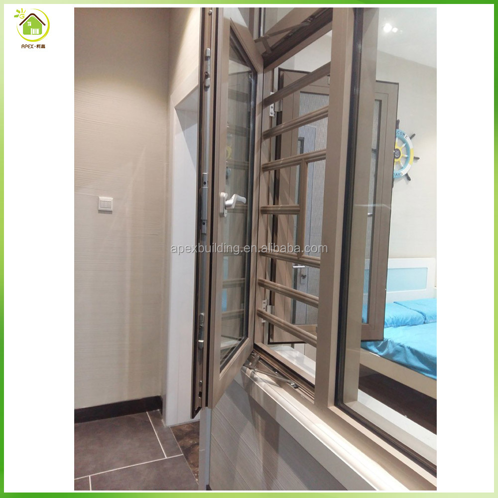 Used security grills for casement aluminum windows frame suppliers