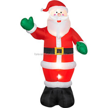 hot sale inflatable black santa claus christmas decorations