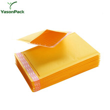 Shockproof foam air poly metallic yellow kraft bubble mailer envelope