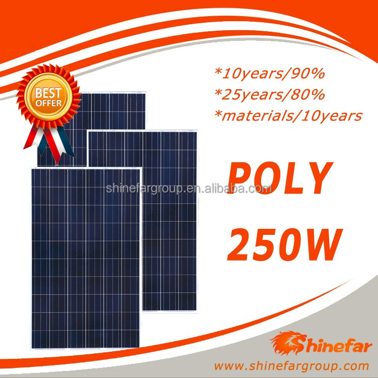 panel surya poly 250w for 2000w solar power system