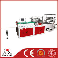 heat sealing plastic bag maker machine