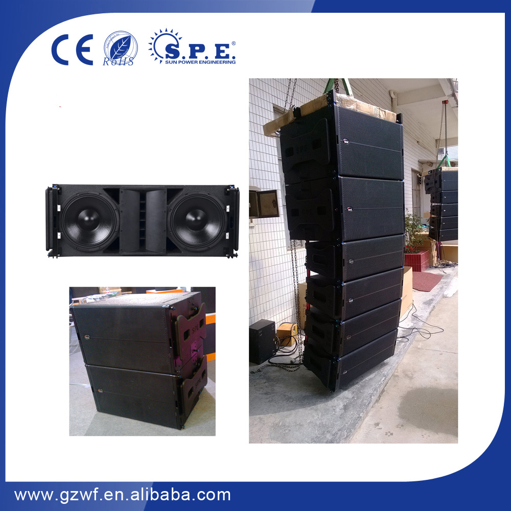 "Hot Sale China factory dual 18 inch outdoor subwoofer, 1200W line array subwoofer, 18"" subwoofer speaker box"