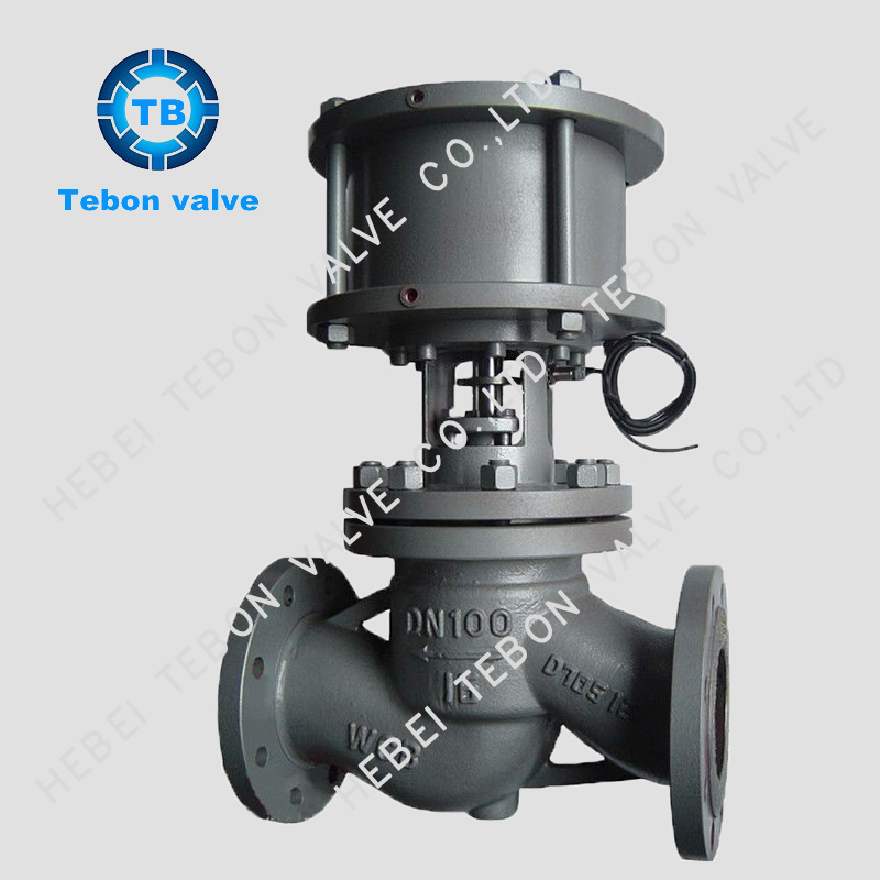 Pneumatic cut off valve globe valve