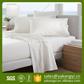260TC Plain Dyed Cotton White Flat Bed Sheet