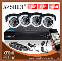 2016 Cheap cctv camera system price of 4 ch hdcctv dvr ir camera system made in china