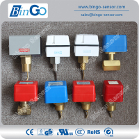 Brass flow switch, low price paddle type liquid water flow switch