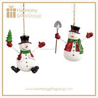 Red Green Xmas Snowman Polyresin Craft Products