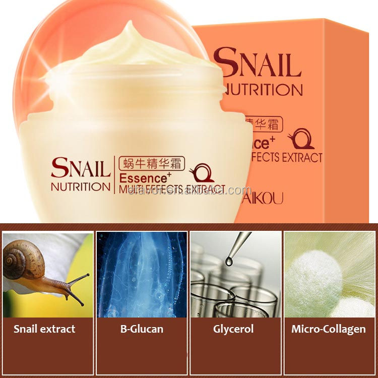 Snail white thailand collagen cream and snail mucus skin care set for whitening