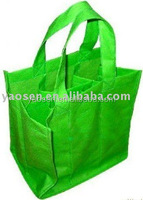 green non woven wine tote bag for christmas promotion gift