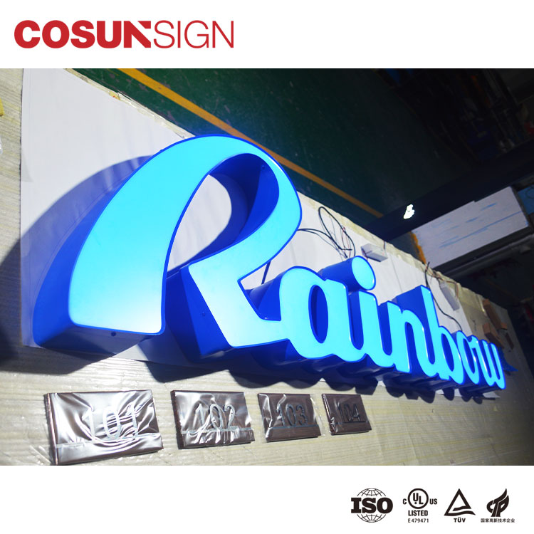 High quality metal and acrylic made 3D advertising trimcap letters sign