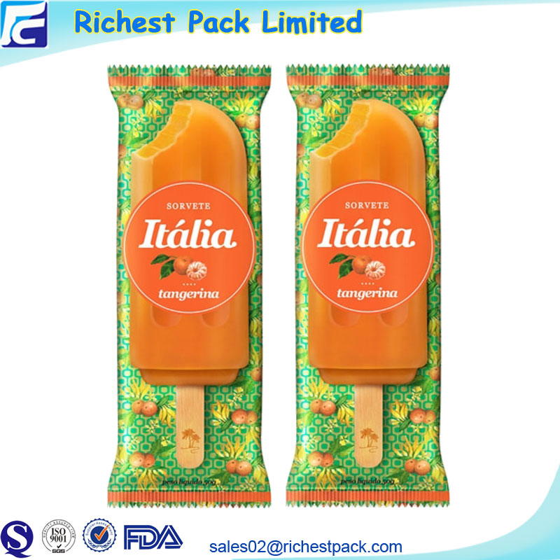 FDA approved custom printed plastic packing ice lolly cream popsicle packaging bags