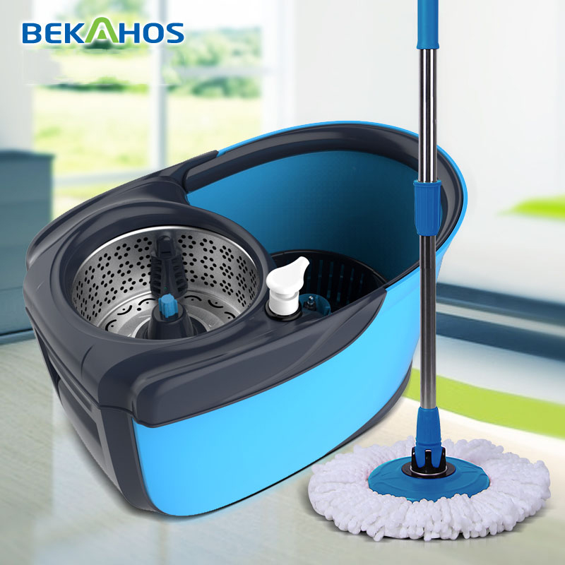 360 Spin Easy magic Stocked Feature and Telescopic Handle Type spin magic mop