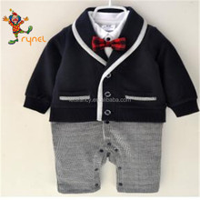 PGCC4887 Wholesale Newborn Baby Boys Combed Cotton Spring Summer Autumn Vest Clothes Plain Cotton Baby Romper For Toddler