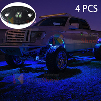 1 Pods LED Rock Lights , Waterproof Glow Neon LED Light for Cars Offroad Truck Boat Deck Underbody Interior Exterior (Blue)