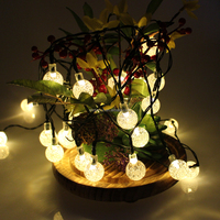 Wholesale round ball shape decorative super bright string bulb battery led string lights