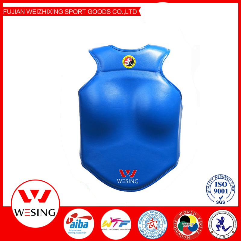 MMA Chest Guard Body armor Shields protectors vest unisex kids women red blue black 3 color
