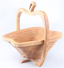 wholesale high quality collapsible wood baskets