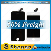 cherry mobile phone parts for iphone5 lcd digital display,for iphone 5 lcd module