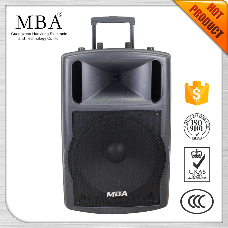 High quality active plastic speaker,karaoke sound system,with FM/MIC