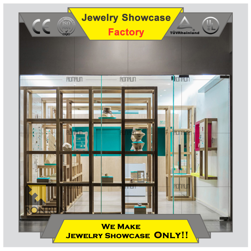 Hot 2015 used wholesale american showcase jewelry display cases for jewellery shop furniture design