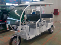 I CAT approved battery auto tricycle/tuk tuk/powered rickshaw bajaj with 6 seats 2100009