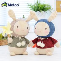 7.9 Inch Plush Cute Stuffed Brinquedos Baby Kids Toys for Girls Birthday Christmas Gift Bonecas knitting Wool Rabbit Metoo Doll