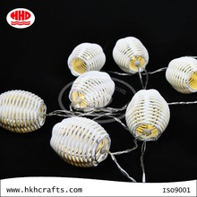 Unique rattan material party decorative led string lights