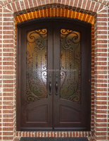 SZ-172 Luxury Bronze Wrought Iron Door Design