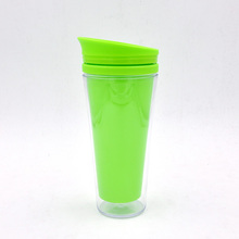 reusable plastic insulated coffee cups/ Custom Plastic Coffee Travel Mug with cup lid