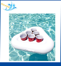 Inflatable Beer Pong Racks, Includes 5 Ping Pong Balls - Floating Beer Pool Pong Party Game Float Set