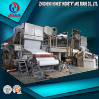Paper production lines in China Toilet paper machine price