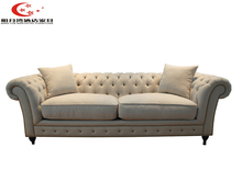 ready to assemble European modern type furniture upholstered leather sectional sofa hotel room finishing