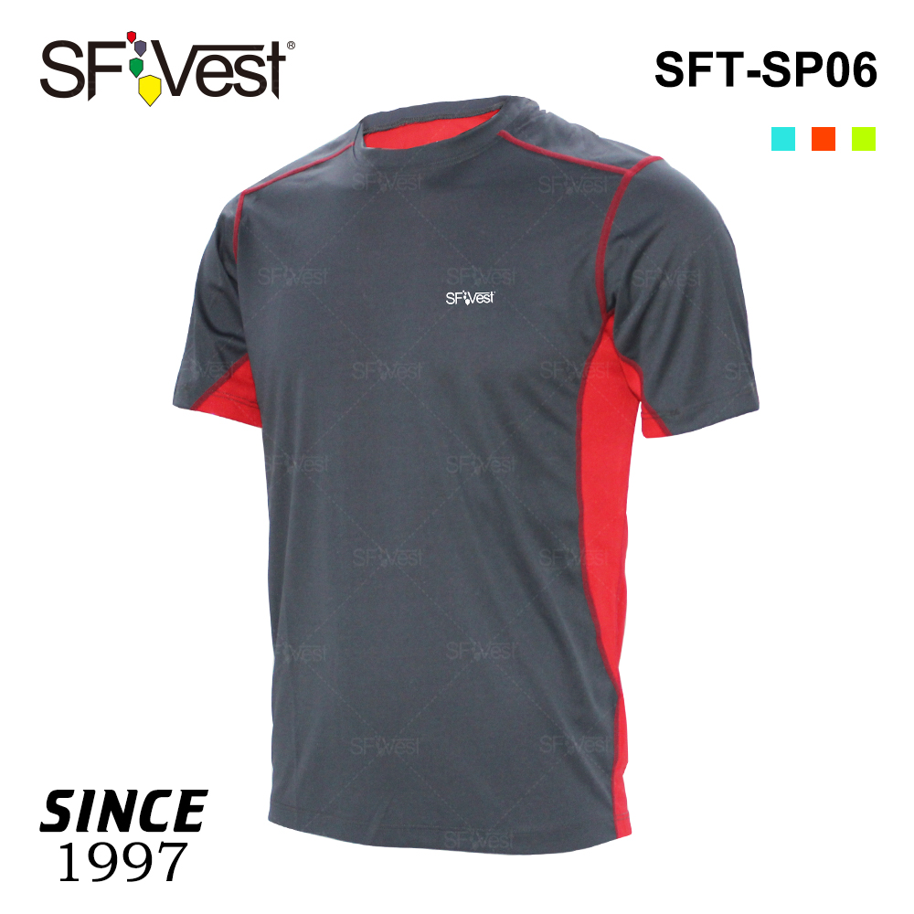 Wholesale spandex fabric high quality breathable dry fit crew t shirt outdoor sports clothing