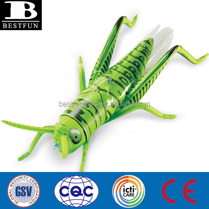 eco-friendly PVC inflatable grasshopper giant plastic inflatable jumping small insect funny vinyl grasshopper toys for kids